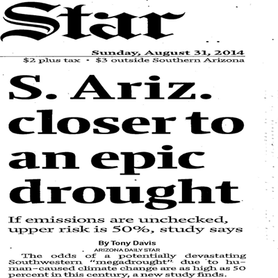 Megadroughts and the Arizona Daily Star